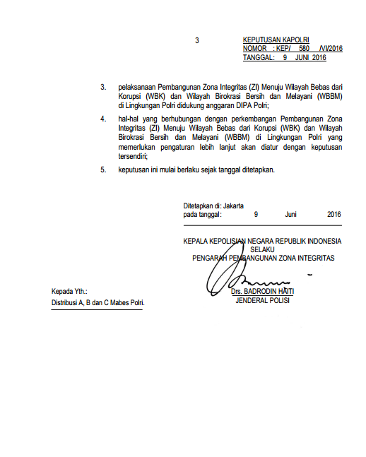 Zona Integeritas Wilayah Bebas Korupsi Wilayah Bersih Bebas Melayani Tribrata News